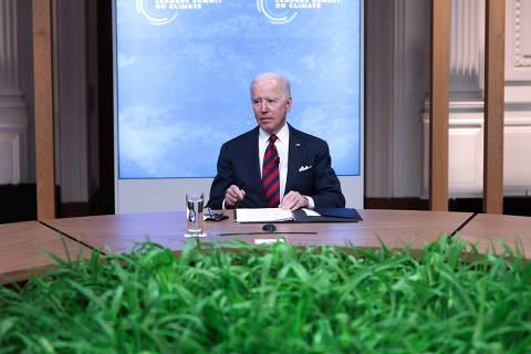 Na abertura da cúpula, Biden anuncia nova meta de emissão dos EUA