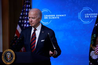 President Biden participates in a virtual climate summit at the White House