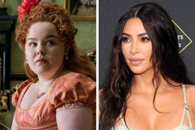 Kim Kardashian e sua família foram inspiração para 'Bridgerton', diz atriz