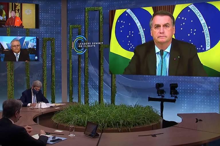 Na Cúpula do Clima, Bolsonaro fraqueja de novo