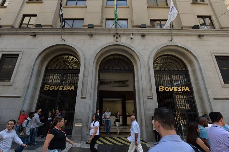 Edifício-sede da Bovespa, hoje B3, na região central da capital paulista