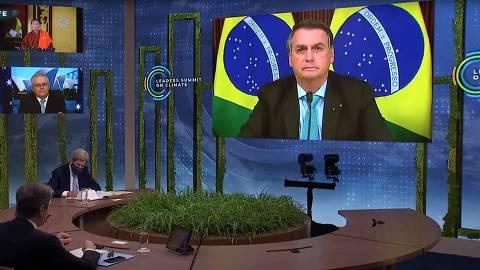 BRASILIA, DF, 22-4-2021  -  O presidente Jair Bolsonaro fala durante a Cúpula de Líderes sobre o Clima (videoconferência). (Foto:Leaders Summit on Climate)