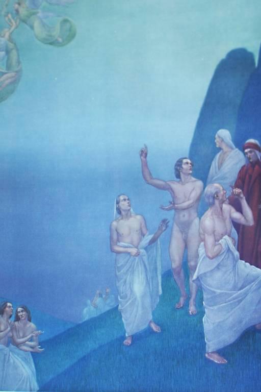 Qual é a litografia de 'A Duvina Comédia', de Dante Alighieri, criada por Amos Nattini