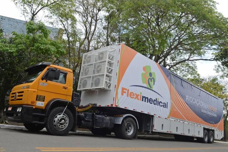 Carretas da saúde prestam atendimento durante pandemia