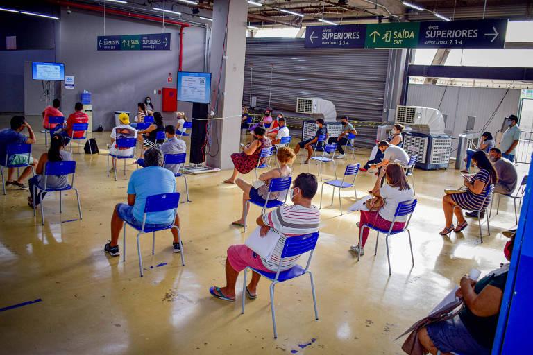 Centro de Triagem Covid 19 na Arena Pantanal