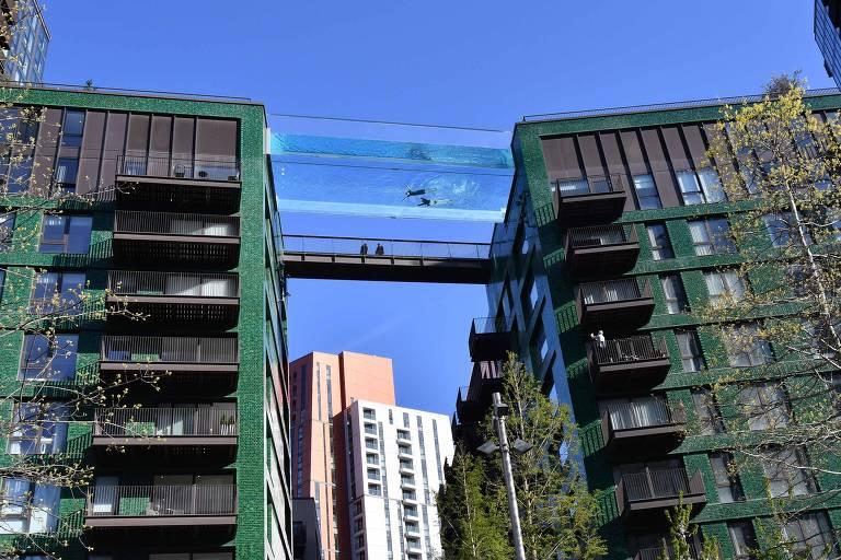 Piscina suspensa a 35 metros de altura irá ligar dois prédios em Londres, na Inglaterra