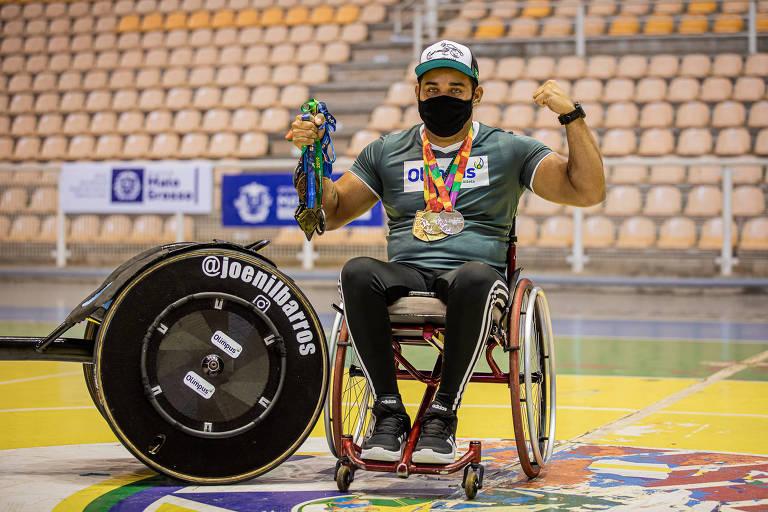 Joenil Rosa de Barros, destaque cuiabano na corrida em cadeira de rodas