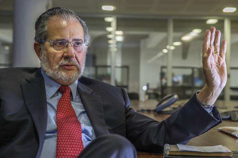 Diretor do diário venezuelano El Nacional, Miguel Henrique Otero, na sede da Folha