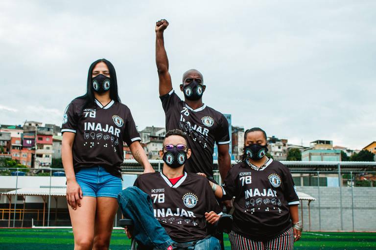 O Inajar de Souza é um time de várzea que em 2021 lançou um uniforme contra o racismo, o preconceito de gênero e sexualidade, e pela inclusão de pessoas cadeirantes e com deficiência