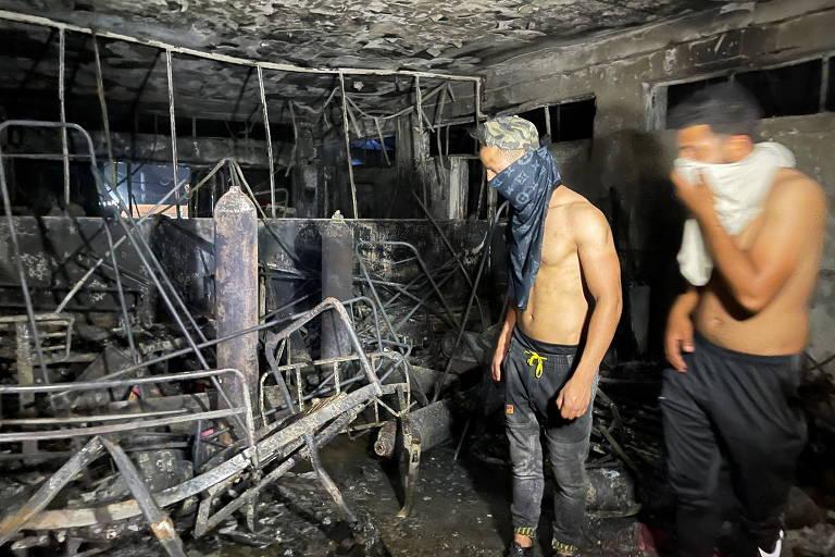 Incêndio em hospital em Bagdá deixa 82 mortos