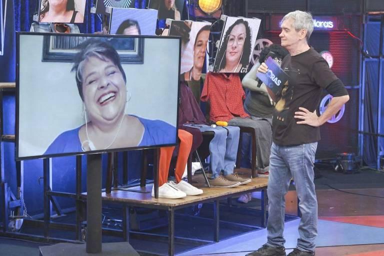 Elaine Melo, vencedora do primeiro No Limite, no programa Altas Horas