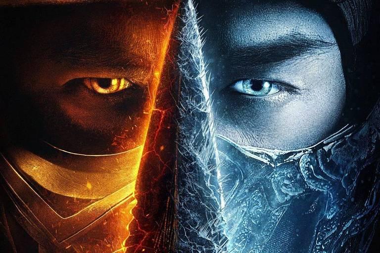 Scorpion e Sub-Zero com os rostos fundidos