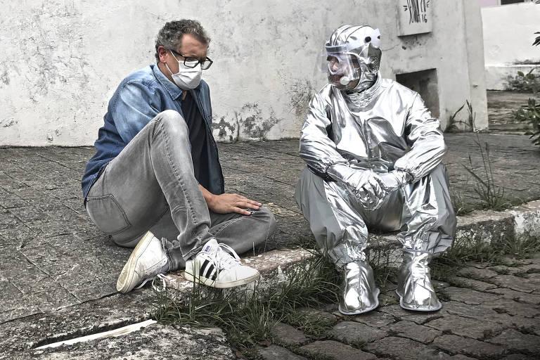 Marcelo Airoldi e Giovani Tozzi em 'Peixe Fora D'água'