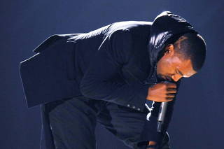 FILE PHOTO: Kanye West performs at the 50th Annual Grammy Awards in Los Angeles