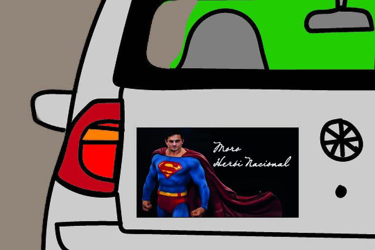 Colar um adesivo chamando Sergio Moro de herói no carro foi longe demais