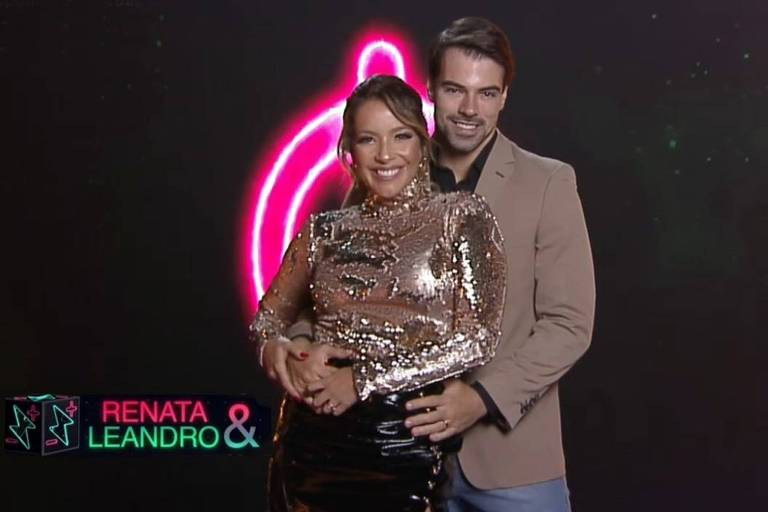 Atriz Renata Dominguez e o marido Leandro