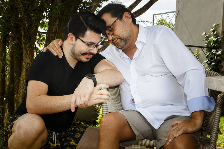 Geraldo Luís com o filho, João Pedro