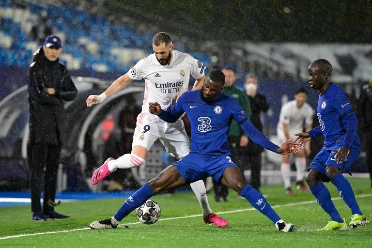 Chelsea sai na frente, mas Real Madrid busca empate na semi da Champions