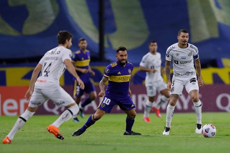 Santos é derrotado pelo Boca Juniors e se complica na Libertadores