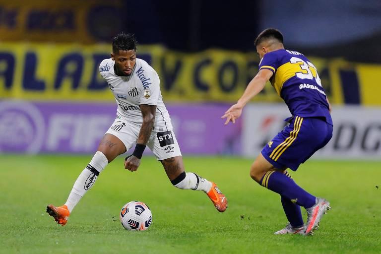 Santos perde para o Boca Juniors e amarga a lanterna do grupo na Libertadores