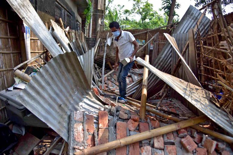 Terremoto danifica construções no nordeste da Índia