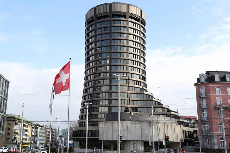 Sede do BIS (Banco de Compensações Internacionais) em Basel, Suíça
