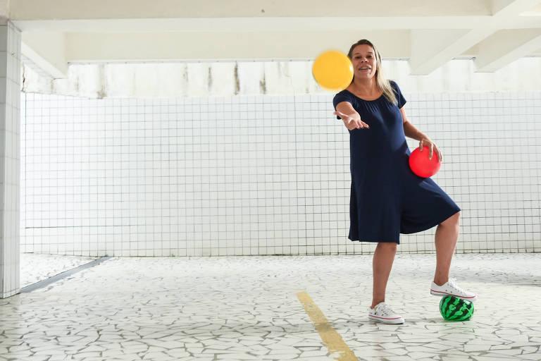 Michelle Oliveira da Silva, analista comercial, que passou as férias em casa, com a filha de nove meses, em Santos