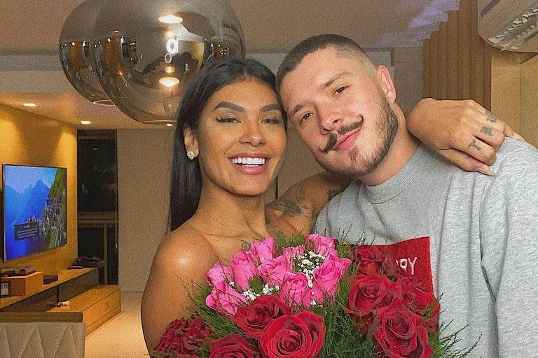Pocah com o marido, Ronan Souza