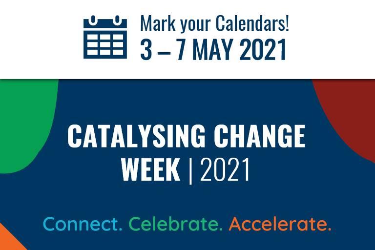cartaz Catalysing Change Week