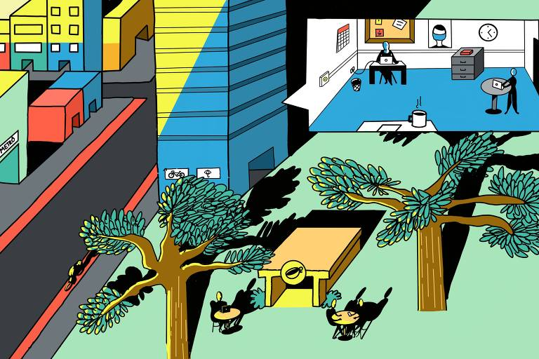 Ilustração de uma cidade