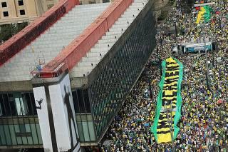 Protesto contra o governo da presidente Dilma Rousseff