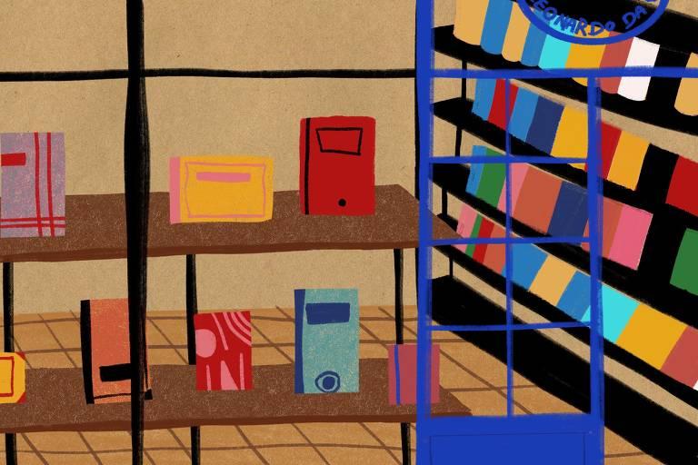 Ilustrador desenha livrarias do Rio de Janeiro contra taxação do mercado editorial