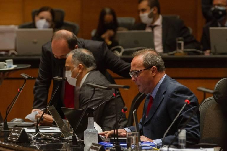 O deputado estadual Waldeck Carneiro (PT), relator do processo de impeachment do governador afastado do Rio de Janeiro, Wilson Witzel (PSC)
