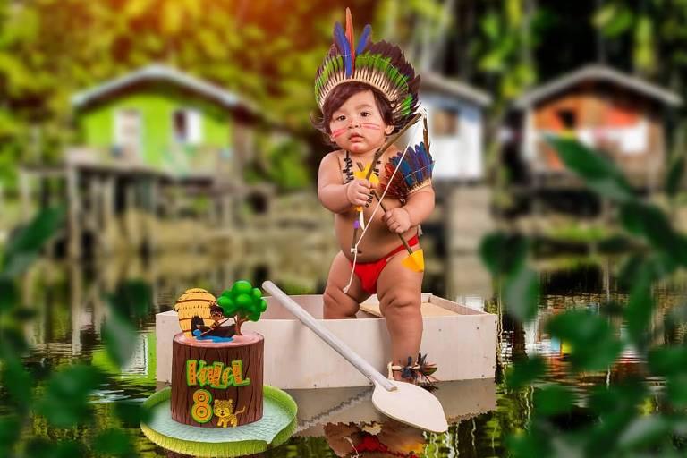 Bebê com adornos indígenas viraliza na internet