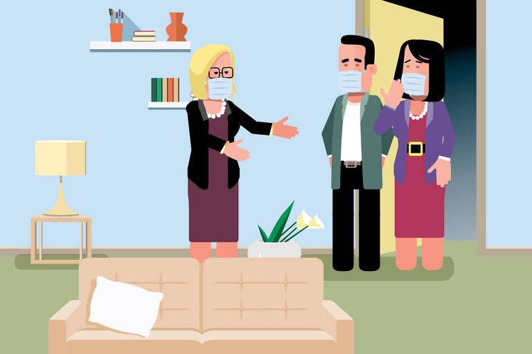 ilustração para coluna Nos Prédios sobre Airbnb
