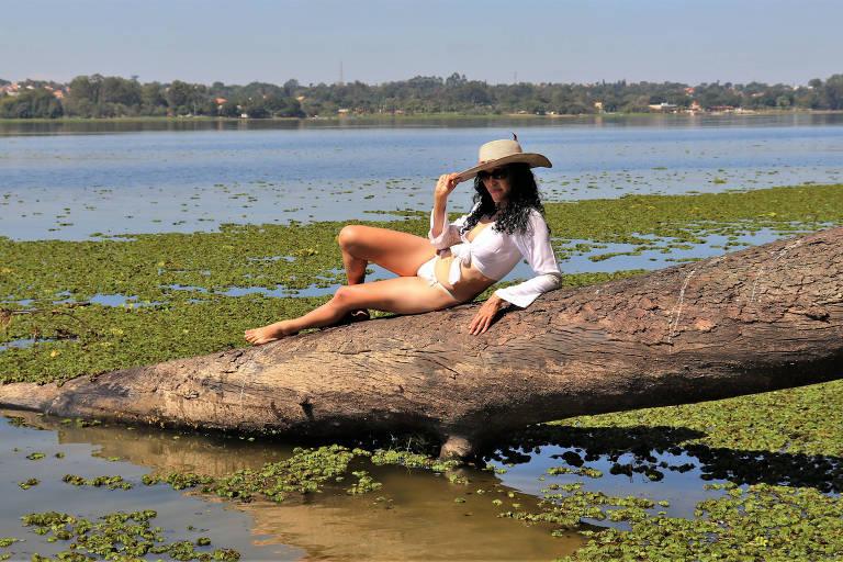 Miriam Moura na Guarapiranga
