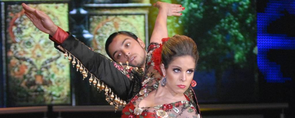 Rodrigo Simas e Raquel Guarini no Dança dos Famosos 2012