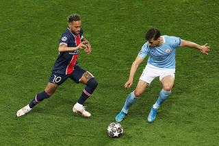 (SP)FRANCE-PARIS-FOOTBALL-UEFA CHAMPIONS LEAGUE-PSG VS MANCHESTER CITY