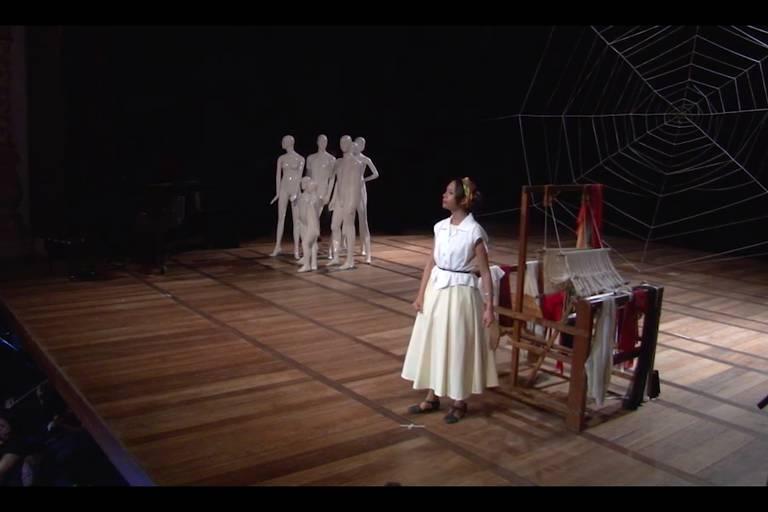 """Reprodução da ópera """"Julia, a Tecelã"""", de Wendell Kettle, em homenagem a seu centenário, celebrado em 2017"""