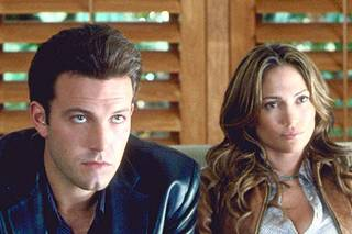 ACTORS JENNIFER LOPEZ AND BEN AFFLECK IN MOVIE STILL IMAGE FROM FILM GIGLI