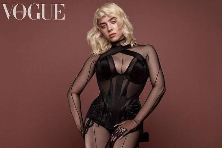 Billie Eilish exibe novo visual na capa da Vogue britânica