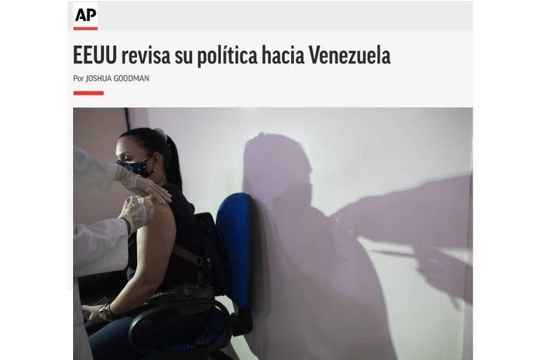 Biden começa a rever relação com Venezuela, diz AP