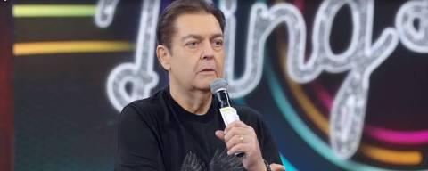 Fausto Silva mais magro, no Domingão