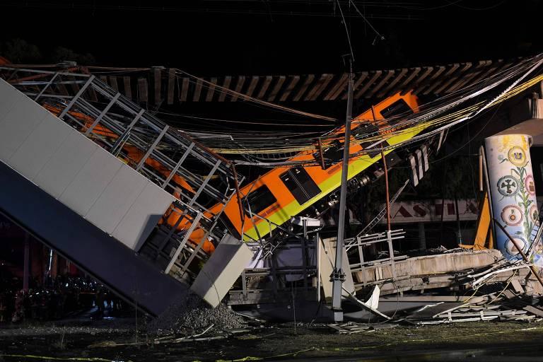 Desabamento de viaduto derruba metrô e deixa ao menos 24 mortos no México