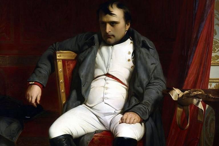Obra do francês Paul Delaroche retrata Napoleão Bonaparte em Fontainbleau, em 1814