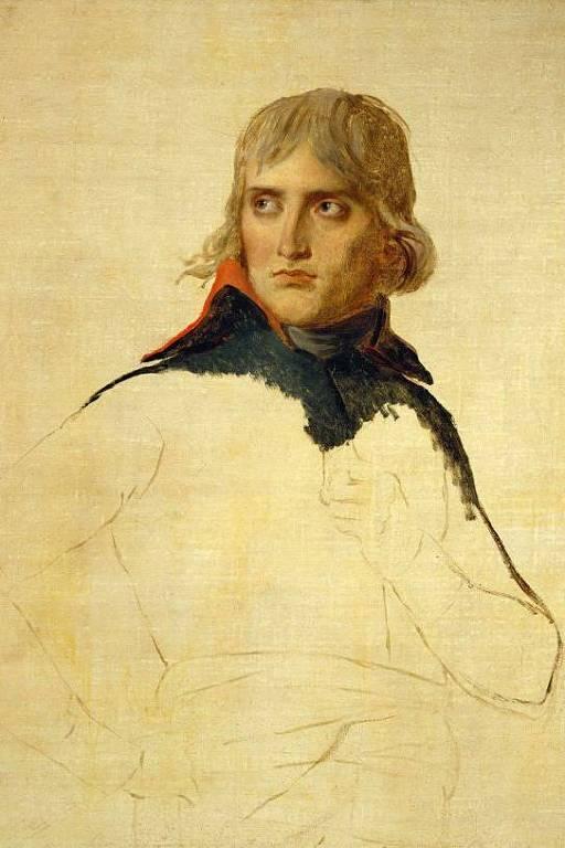 Retrato inacabado de Napoleão feito por Jacques-Louis David