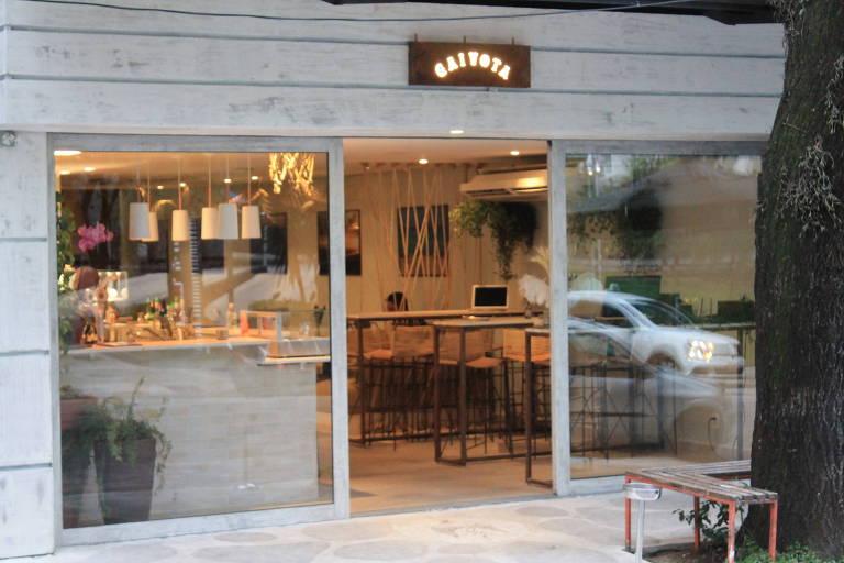 Entrada do Gaivota Bar, nova casa paulistana