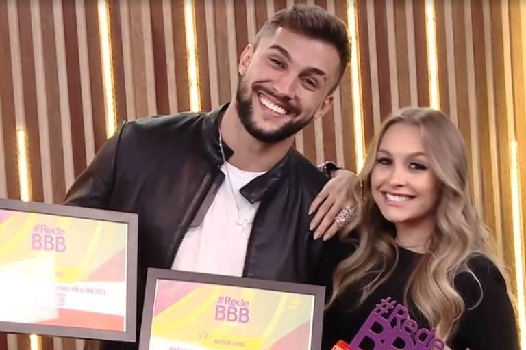 Carla Diaz e Arthur Picoli ganham o prêmio de melhor casal do BBB 21