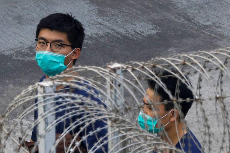 Hong Kong amplia prisão de Joshua Wong a um mês de vigília por massacre da Praça da Paz Celestial
