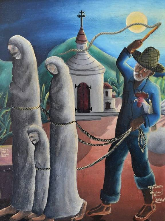 'Three Zombies', de 1953, pintura do artista haitiano Wilson Bigaud